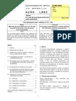 Especificação LNEC E 464