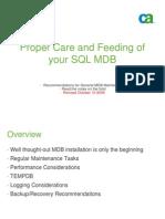 MDB03_Proper Care and Feeding of Your SQL MDB