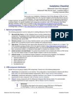 CPM Install Checklist