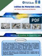Apresentação METALAB Análise de Materiais Ltda._SERVIÇOS_24_09_2013