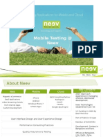 Neev Mobile Testing Approach