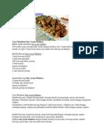 Cara Membuat Sate Ayam Madura