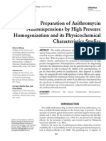 5 Preparation of Azithromycin Nanosuspensions by High Pressure Homogenization and Its Physicochemical Characteristics Studies