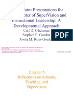 Chapter Five.reflections on Schools, Teaching, And Supervision