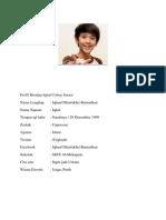 Profil Biodata Iqbal Coboy Junior