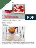 Raspberry Swirl Cheesecake!