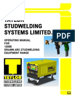 Taylor1200EDAMANUAL for Stud Welding Machines