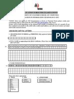 Exam Application Form