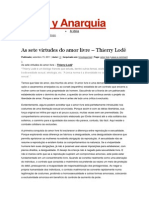 7 Virtudes do Amor Livre - Thierry Lodé