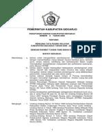Peraturan Daerah Kabupaten Sidoarjo Nomor 6 tahun 2009 Tentang Rencana Tata Ruang Wilayah Kabupaten Sidoarjo Tahun 2009-2029