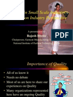 Managing Quality in Decentralised Manufacturing