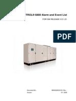 UN6800 (Excitation)Alarm and Event List