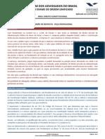 padrão de resposta recurso extraordinario - VIII Exame