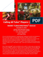 tuba christmas tuba player invite 2013 red background