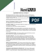 Equipment Rental Contract