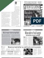 Versión impresa del periódico El mexiquense 25 noviembre 2013