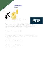 Making Sense of the Fall of the Rupee
