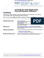 2013_Dee, Michael - An Absolute Chronology for Early Egypt Using Radiocarbon Dating and Bayesian Statistical Modelling