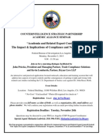 FBI Academic Alliance Program Flyer