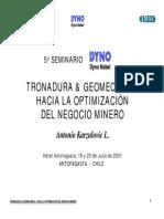 Tronadura y Geomecanica en El Negocio Minero