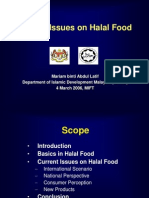 Current Issues in Halal Food