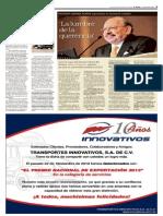 Lunes 25 de noviembre del 2013, Puntos y Contrapuntos, por Pedro Mellado, página 3 de la sección Comunidad, periódico Mural, Grupo Reforma, Guadalajara