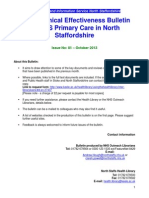 Clinical Effectiveness Bulletin 81 Oct 13
