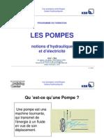 Formation Ksb Notions d Hydraulique Et Electricite
