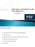 Analysis Crest Cutoff Wall at Ostrovul Mic - YRC 2013 Presentation