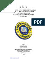 Tesis Kepemimpinan Surabaya