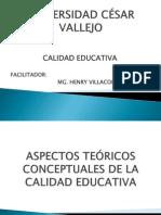 CALIDAD EDUCATIVA 02 ASPECTOS TEÓRICOS CONCEPTUALES