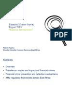 Financial Crimes Survey Presentation