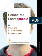 Combatting Homophobia (French-language brochure for people working in education)