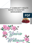Role of Community Health Nurse in Disaster Management