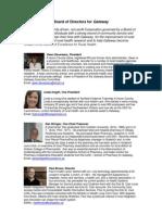 board of directors bios