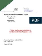 Sample Calculations Piping b 3132008