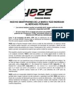 Nuevos Smartphones de La Marca YEZZ Ingresan Al Mercado Peruano
