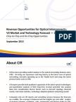 PowerPoint Slides from CIR's Report Revenue Opportunities for Optical Interconnects