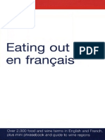 EATING OUT EN FRANÇAIS