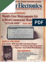 Popular Electronics magazine January 1975