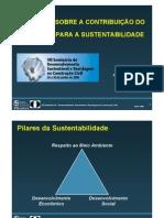 Reflexoes Sobre a Contribuicao Do Concreto Para a Sustentabilidade
