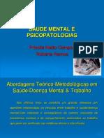 Saúde Mental e Psicopatologias no Trabalho
