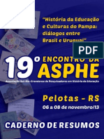 Caderno de resumos do 19º encontro da Asphe-RS