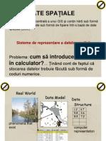 Sisteme de reprezentare a datelor spaţiale