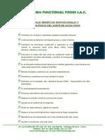 PRINCIPALES BENEFICIOS BIOFUNCIONALES Y FARMACOLÓGICOS DEL ACEITE DE SACHA INCHI