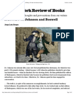 A Lecture on Johnson and Boswell by Jorge Luis Borges