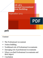 Role of the Professional Accountant in Nation Building
