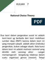 Gerakan Sosial Kuliah 7 - Rational Choice Theory