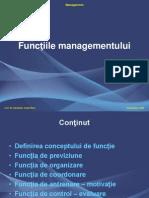 Functiile managementului