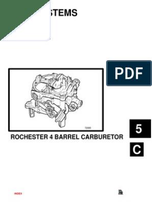 Rochester Carb 4 BBL Adjustement 94hg5c   Carburetor   Throttle